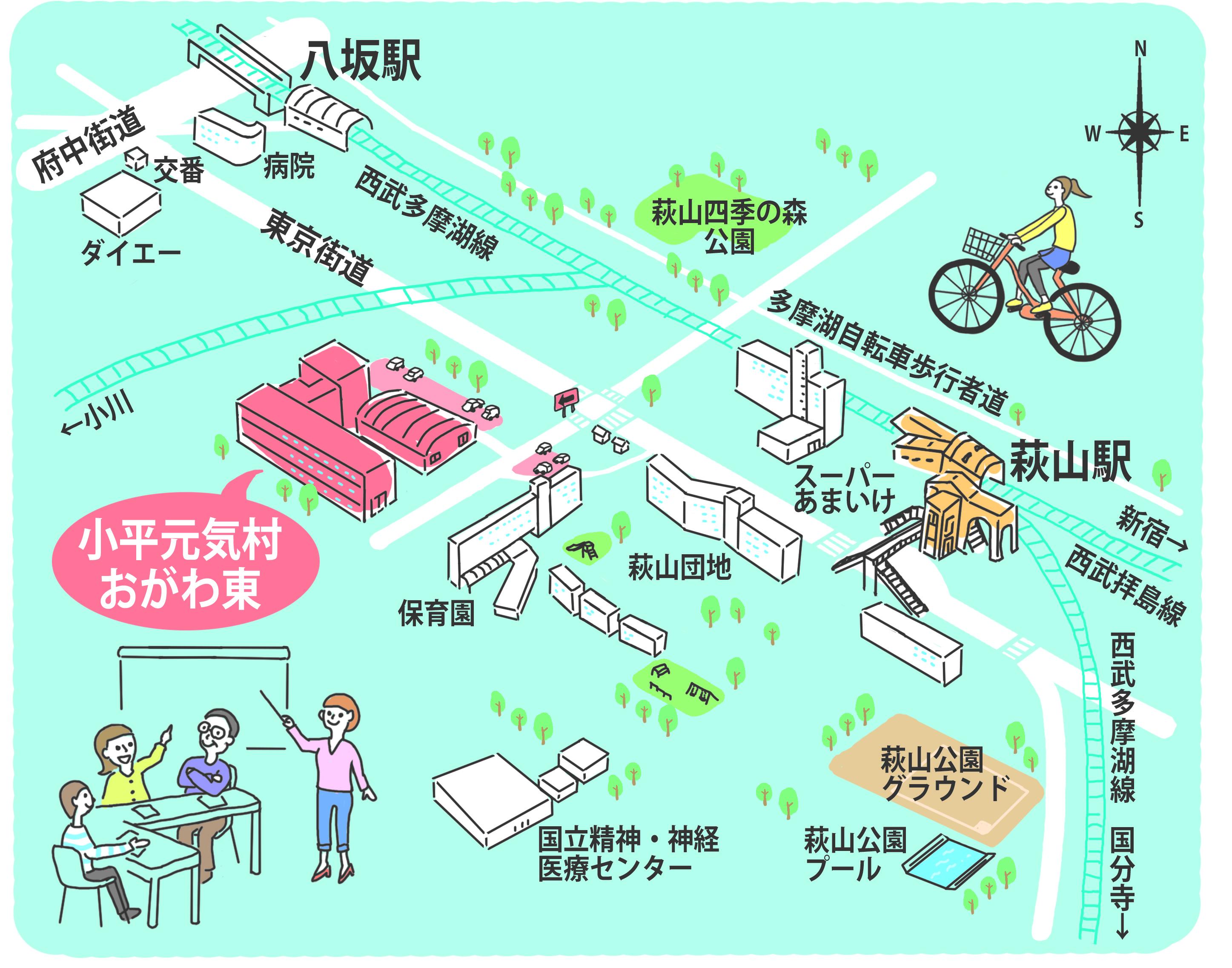 元気村のイラスト地図
